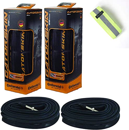 Bike A Mile Continental GatorSkin Bike Tires Set of 2 with 2 Continental Inner Tubes