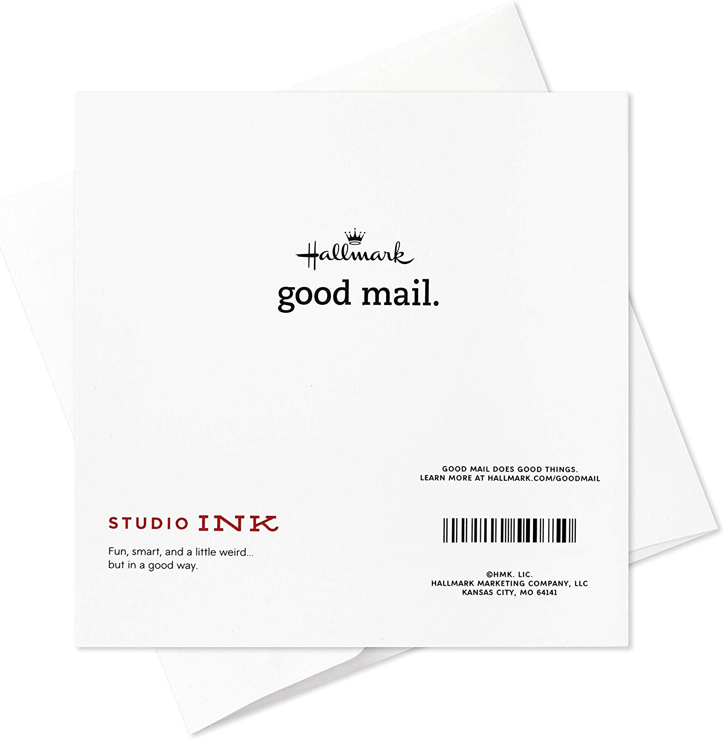 5 Cards with Envelopes for Congratulations, Thinking of You, Thank You, and More Hallmark Good Mail Blank Cards Assortment