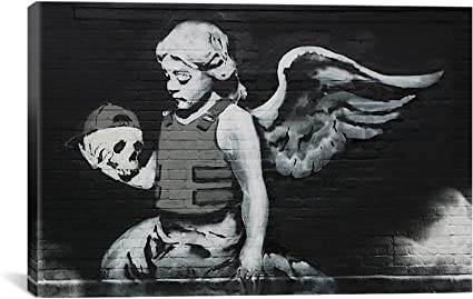 ARTCANVAS Ozone/'s Angel Canvas Art Print by Banksy