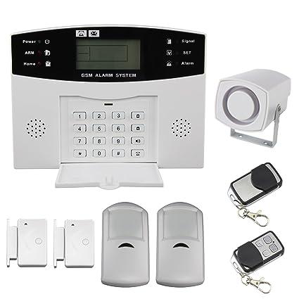 Discoball Sistema de seguridad con alarma y pantalla LCD, inalámbrico, para el hogar, control por SMS al móvil, GSM, marcación automática, protege el ...