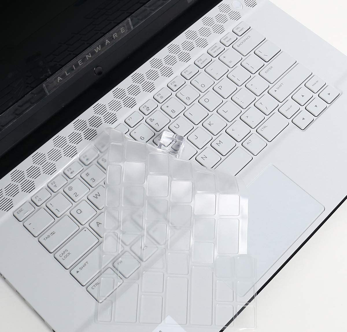 Lapogy Keyboard Cover Skin for 2019 Dell Alienware M15 R2 15.6 inch Gaming Laptop Accessories, Ultra Thin TPU Keyboard Protector for Dell Alienware M15 R2 Laptop Without Numeric Keypad