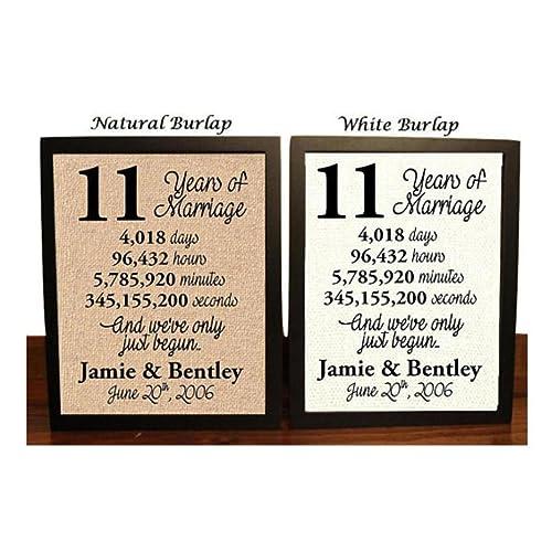 Gift For 11th Wedding Anniversary: 11 Year Anniversary Gifts: Amazon.com