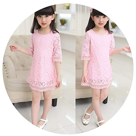 ed2fc92021527 Amazon.com: Kids 2018 Summer Autumn Lace Dress White Large Size ...