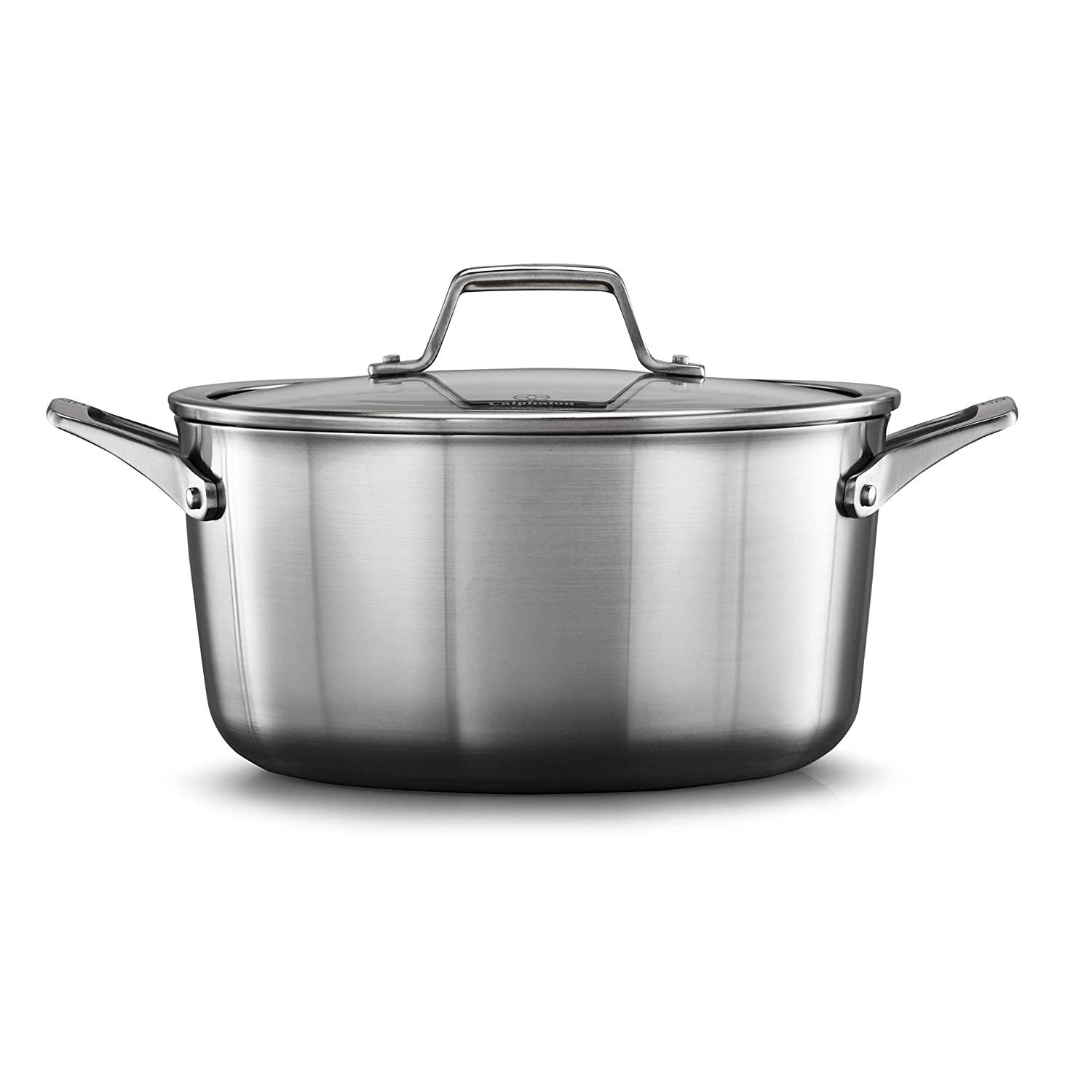Calphalon 2029660 Premier Stainless Steel 6-Quart Stock Pot with Cover, Silver