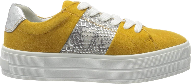 MARCO TOZZI 2-2-23767-24, Sneakers Basses Femme Jaune Saffron Comb 656