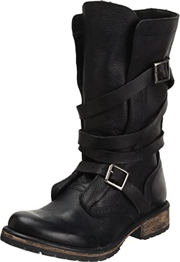 e230e73bc73 Steve Madden Women s Banddit Black Leather Boot Casual 5.5 US