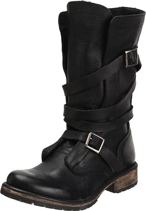 1844945f2bd14 Steve Madden Banddit - Botas de Cuero para Mujer Negro Negro 36  Amazon.es   Zapatos y complementos