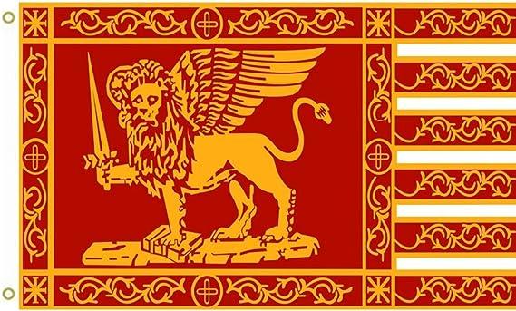 Gran bandera República de Venecia Bandera Most Serene República de Venecia Bandera al aire libre bandera bandera 3 x 5ft Banner: Amazon.es: Jardín