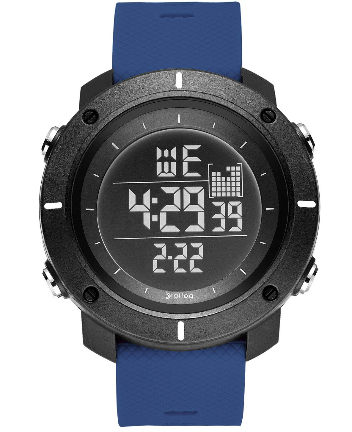 Digilog Force Midnight Black Activewear Classy Digital Multi Function Watch for Men & Boys (Blue) (B07Q9ZG4QG) Amazon Price History, Amazon Price Tracker