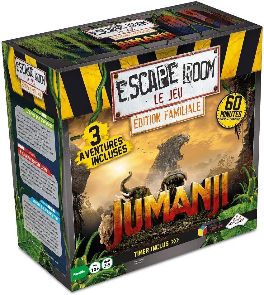 Escape Room – El juego – Edición familiar Jumanji de 3 aventuras diferentes en francés. , color/modelo surtido: Amazon.es: Juguetes y juegos