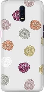Stylizedd Oppo R17 Slim Snap Basic Case Cover Matte Finish - Circular Scribbles