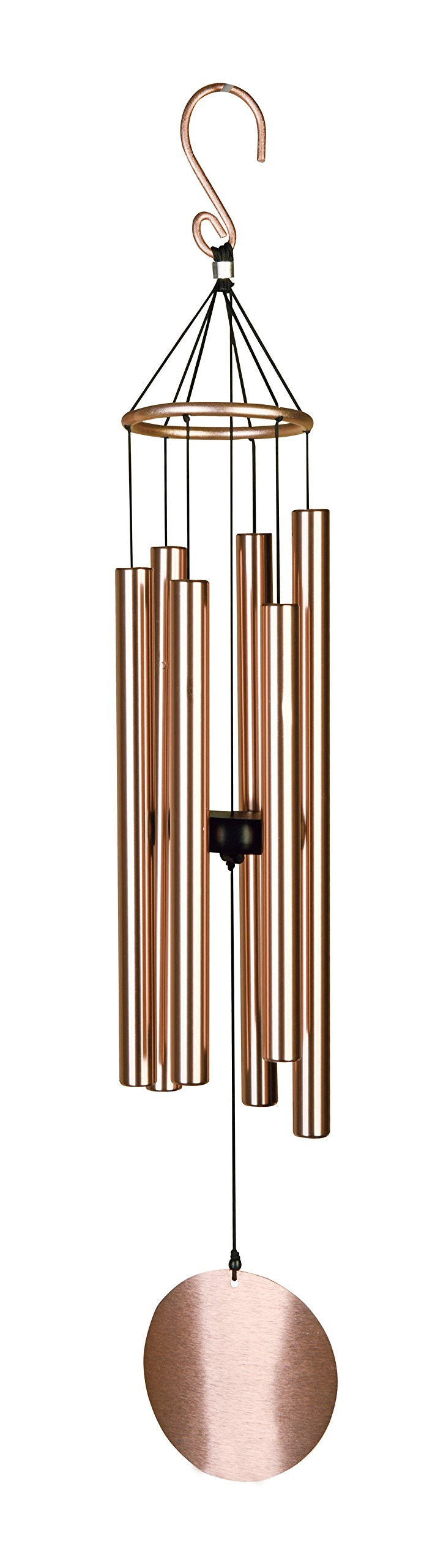 Pixpri Wind Chimes - for Outdoor Garden - 32'' Elegant Metal Design - Musical Tones (Rose- Gold,similar but not exactly the same tone of the forest green) by Pixpri