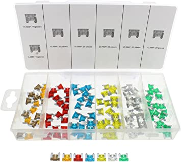 Abn 120 Stück Flachsicherungen Set 5 7 5 10 15 20 25 30 Amp Low Profile Mini Sicherungen Für Pkw Lkw Auto