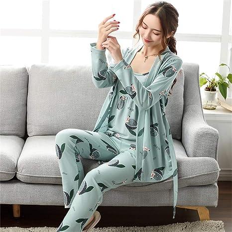 baijuxing Pijamas Pijama Mujer 3 Piezas Otoño e Invierno ...
