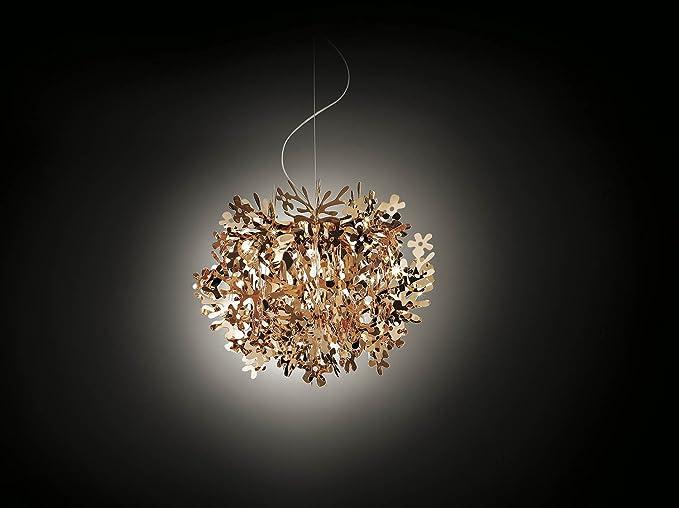 Lampadario Fiorella Slamp : Slamp lampada a sospensione fiorella rame realizzato a mano made