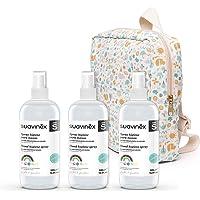 Suavinex, Pack 3x Spray Higienizante Para Niños y Mochila de Regalo. Solución hidroalcohólica. 70% Alcohol. Sin aclarado…
