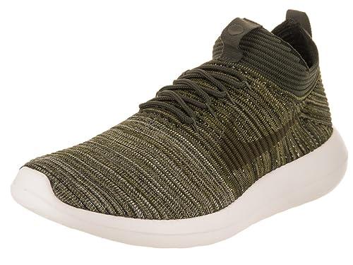 competitive price 51070 c5af1 Nike Men s Roshe Two Flyknit V2 Sequoia Cargo Khaki Olive Flak Running Shoe  11.5