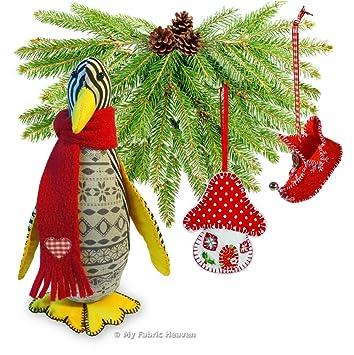 3 x Christmas Schnittmuster Unabhängige Design. 20,3 cm Pinguin, Elf ...