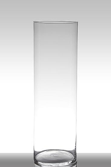 Inna Glas Bodenvase Glas Sansa Zylinderrund Klar 60cm ø19cm