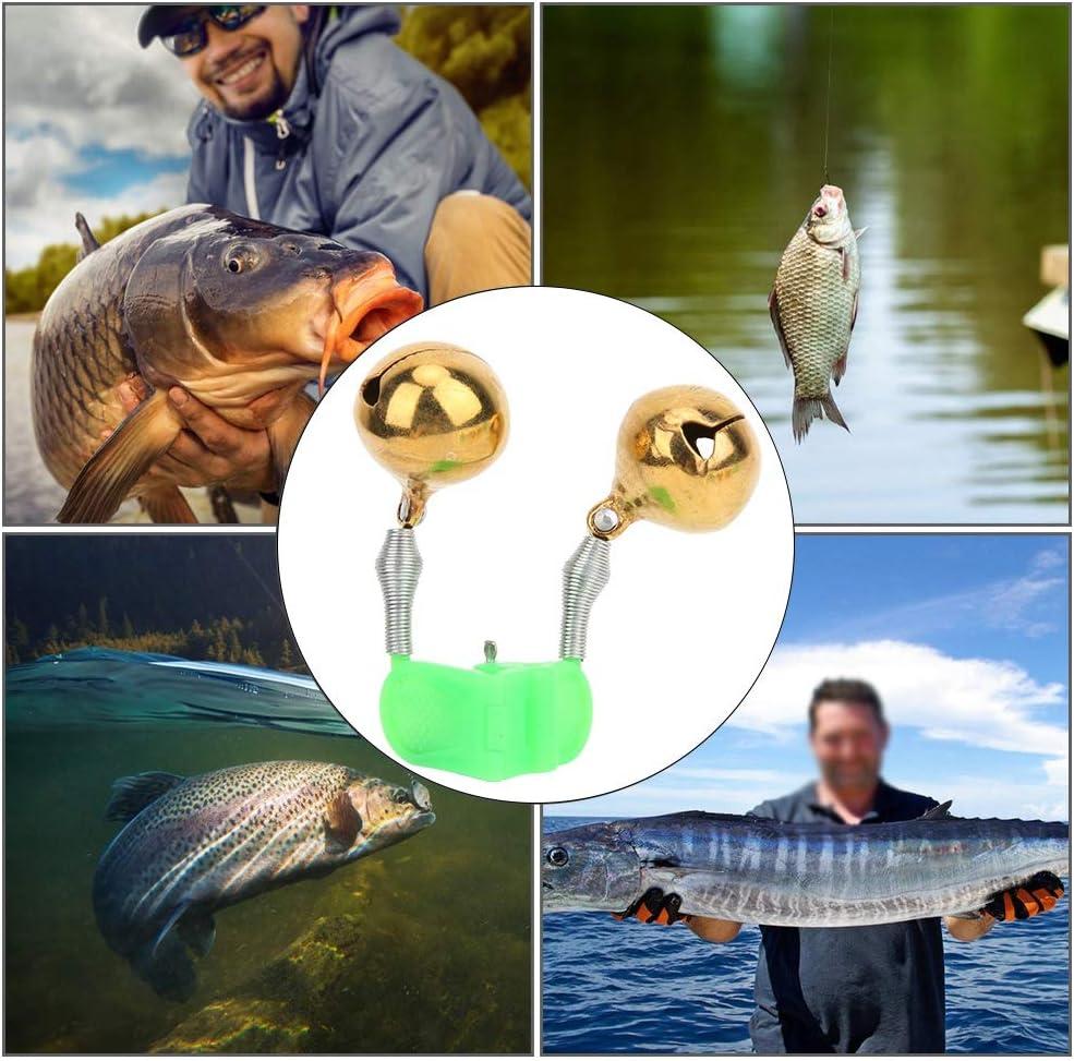 East buy Campanello dallarme per morso da Pesca 5 Pezzi Allarme per morso Doppio Campanello Anello per Attrezzi da Pesca Accessorio per Canna da Mare
