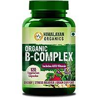 Himalayan Organics Organic B Complex Vitamins B12, B1, B3, B2, B9 and Biotin for Metabolism, Hair and Energy - 120 Veg Capsules