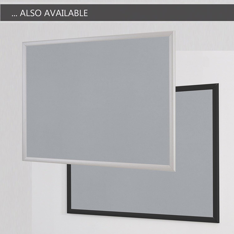 Green Wonderwall New Eco-Friendly Felt Noticeboard 60x90cm Oak Wood Effect Frame