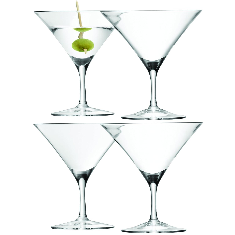 LSA International Bar Martini Glass 180ml, Clear, Set of 4 G715-06-301
