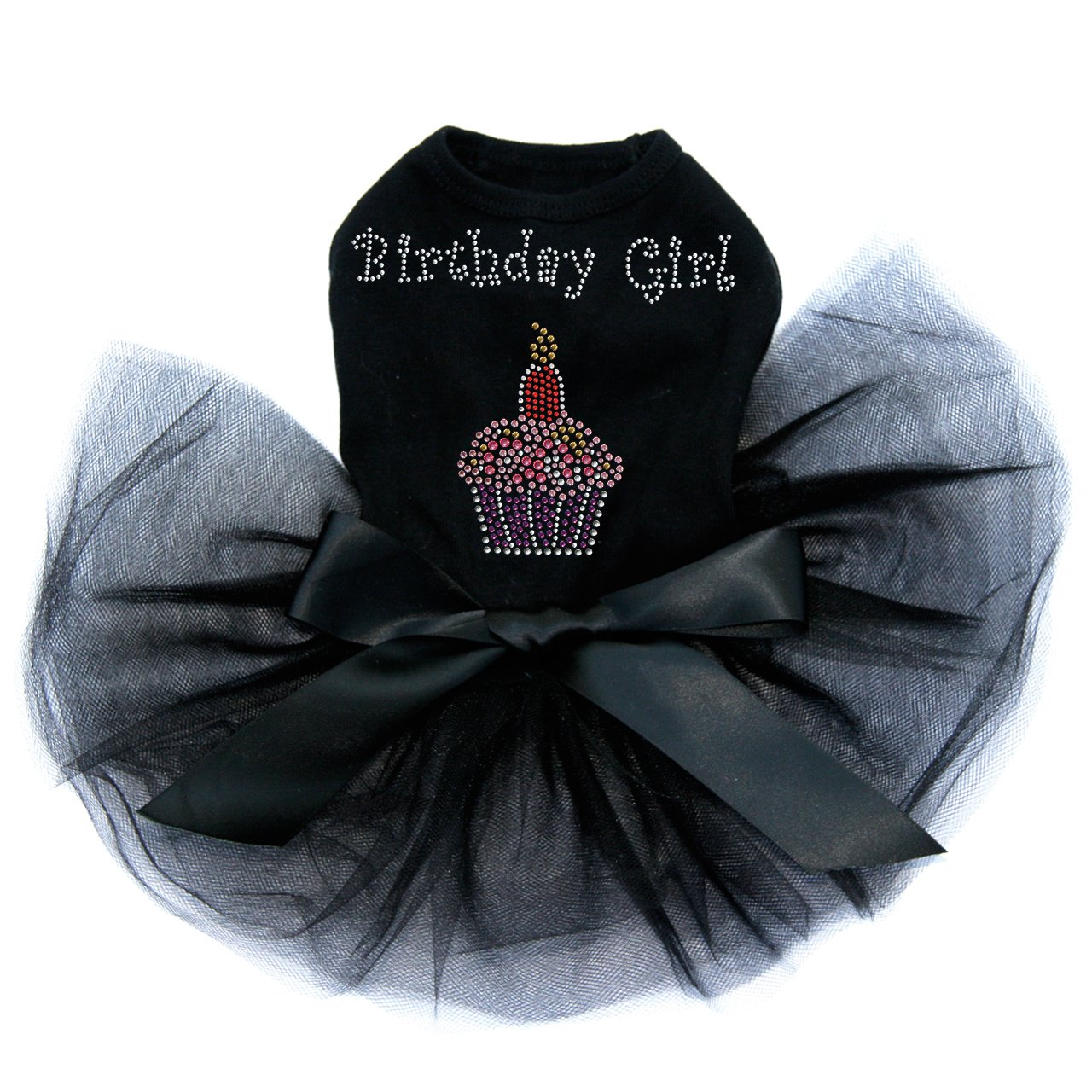 Birthday Girl - Dog Tutu Dress, L Black by Dog in the Closet