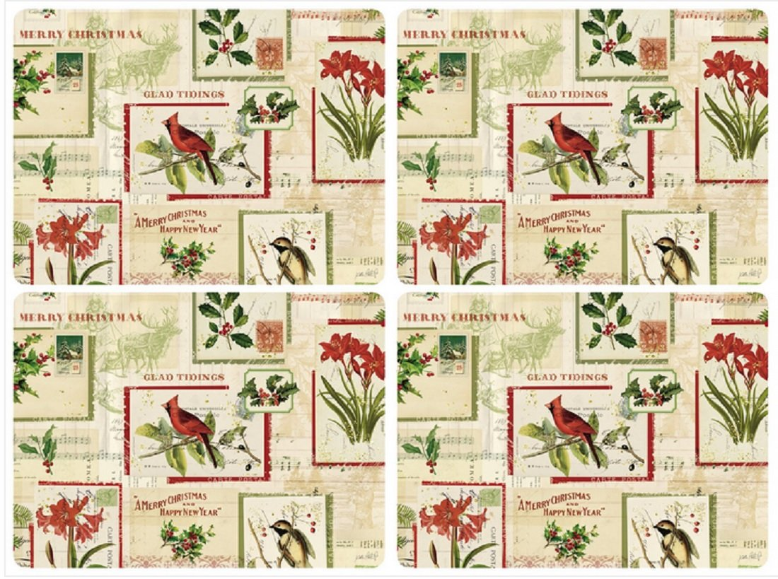 Pimpernel Set of 4 Holiday Nostalgia Placemats 2010648880