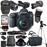 Canon EOS 6D Digital SLR Camera + EF 24-105mm f/4L IS USM Lens Kit + Accessory Bundle (17 Piece Bundle)