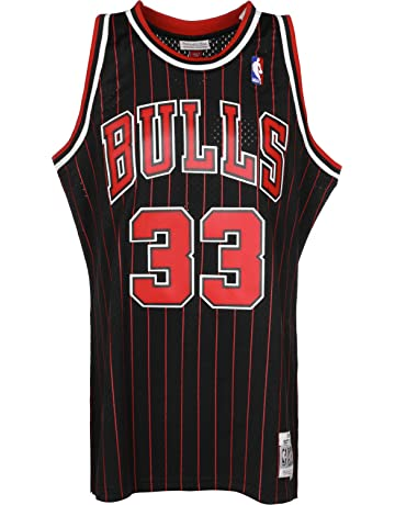Mitchell   Ness Scottie Pippen  33 Chicago Bulls 1995-96 Swingman NBA Jersey  Pinstripe 2c8b87a25