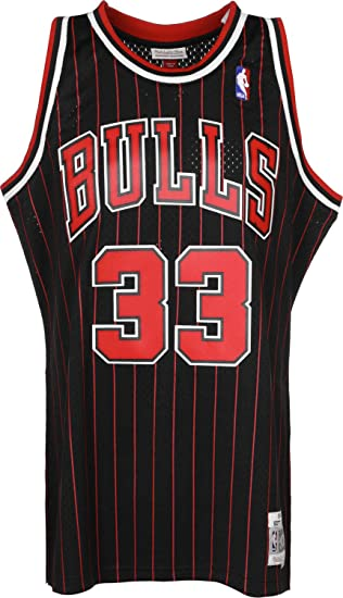 255720b3f71 Mitchell   Ness Scottie Pippen  33 Chicago Bulls 1995-96 Swingman NBA  Jersey Pinstripe