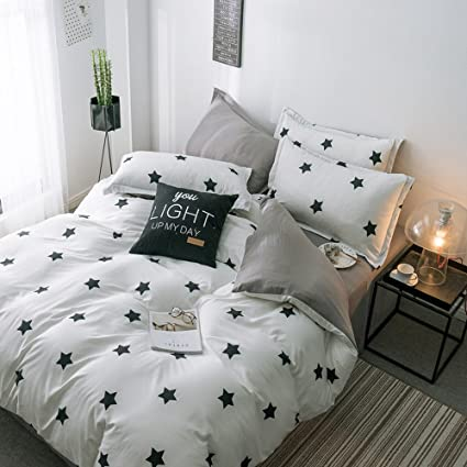 85a2916f796 LuDan 3 Pcs Kids Bedding Sets for Unisex 1 Duvet Cover +2 Pillow Cases Twin