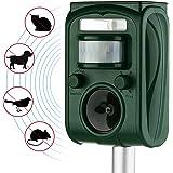 AUTSCA Ultrasonic Animal Repeller Solar Power Animal & Pest Repellent, Cat Repellent, Dog Repellent, Deer Repellent, Mice Repellent, Bird Repellent