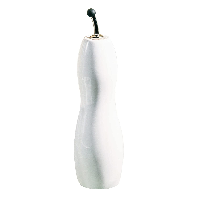 Porzellan wei/ß Essig-///Ölflasche geschwungen H/öhe 30 cm ASA