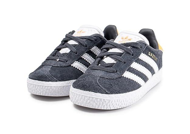 new arrival 83de5 8c1d2 adidas Gazelle I, Chaussures de Fitness Mixte Enfant, Gris (CarbonFtwblaOrorea  000), 27 EU Amazon.fr Chaussures et Sacs