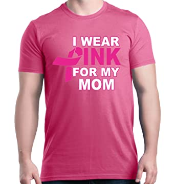 Amazon.com: Shop4Ever I Wear Pink For My Mom T-shirt Breast Cancer ...