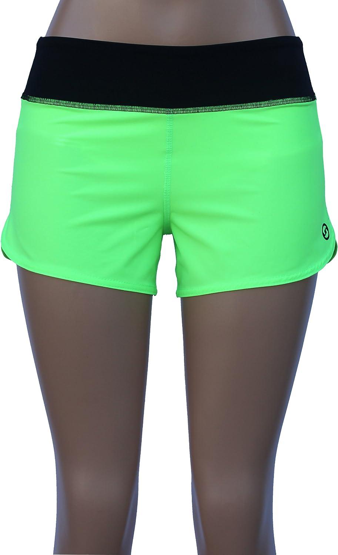 Neon Green-2 UN92 WC14 Womens Zest Fit Shorts