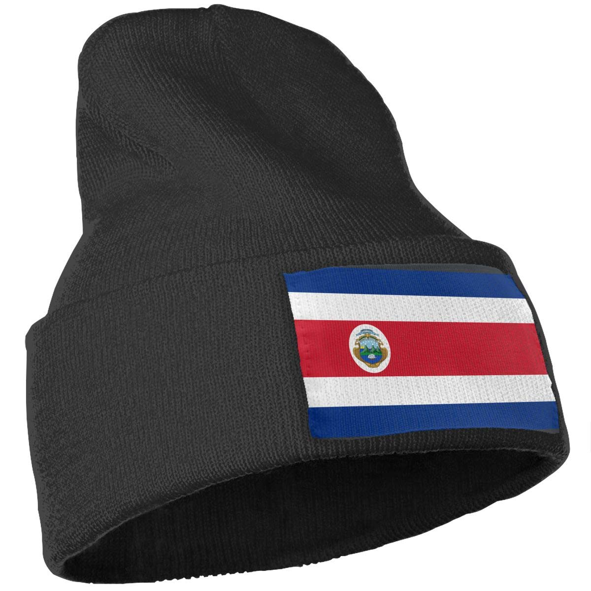 WHOO93@Y Mens Womens 100/% Acrylic Knitted Hat Cap Flag Costa Rica Soft Skull Beanie