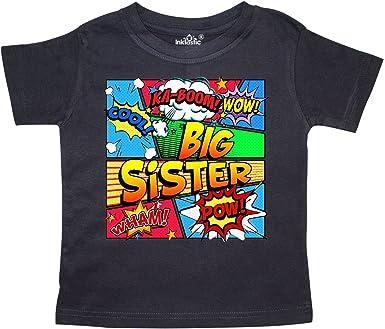 inktastic Big Sis Sibling Girl Monkey Toddler T-Shirt