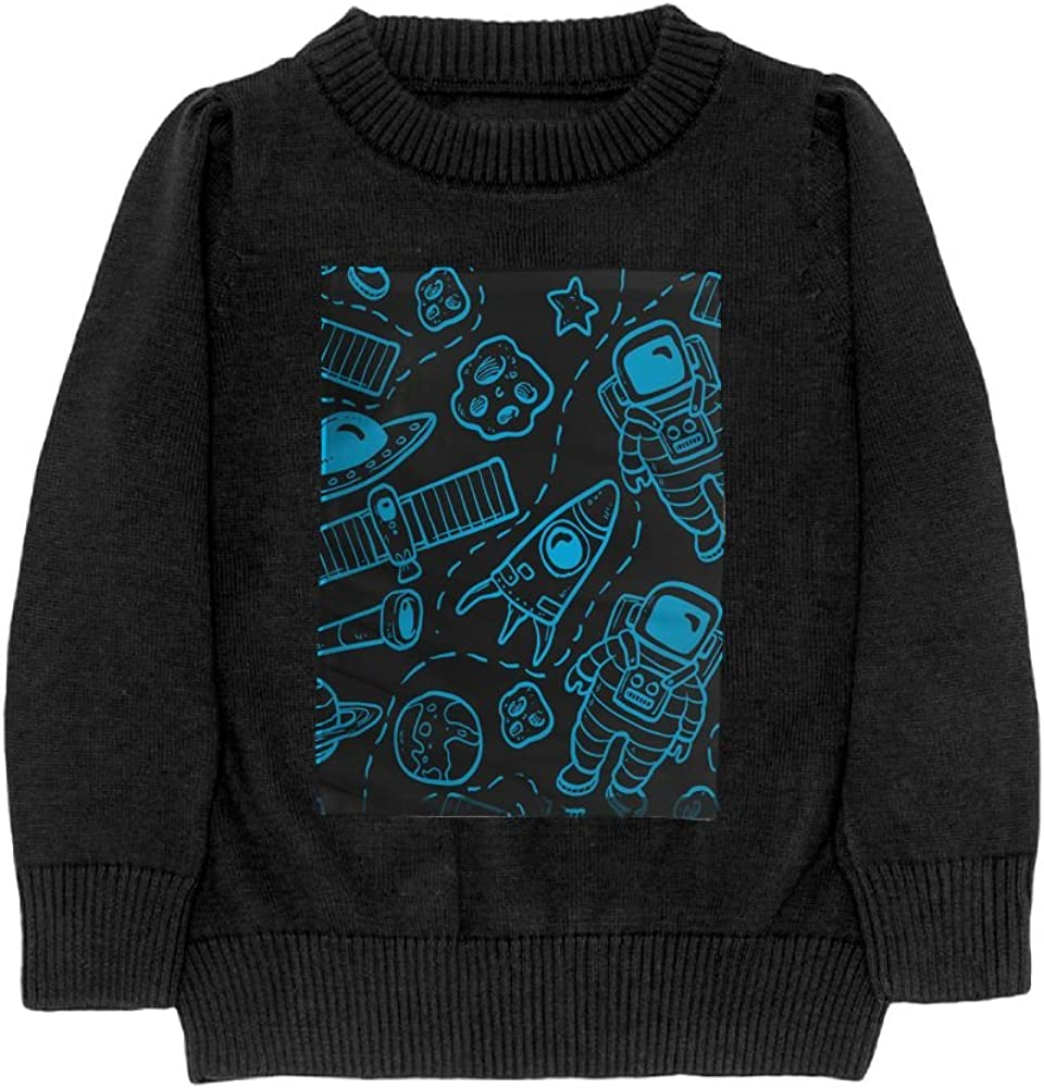 DTMN7 Colorful Galaxy Space Moon Star Teens Sweater Long Sleeves Crew-Neck Youth Athletic Casual Tee Junior Boys