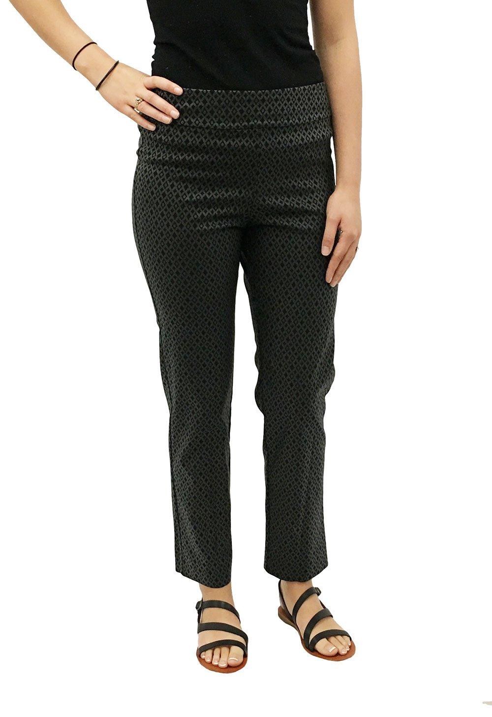 KrazyラリーレディースPull On Ankle Pants B074LC9WVM 16|black foil black foil 16