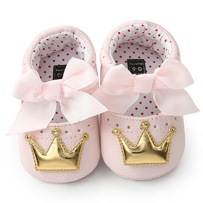 Baby Shoes Mother & Kids Sweet Newborn Baby Girls Princess Polka Dot Big Bow Infant Toddler Ballet Dress Soft Soled Anti-slip Shoes Footwear