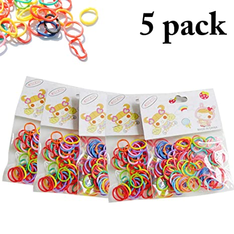 Legendog 500PCS Mascota Pelo Caucho Banda Clasificado Color ...