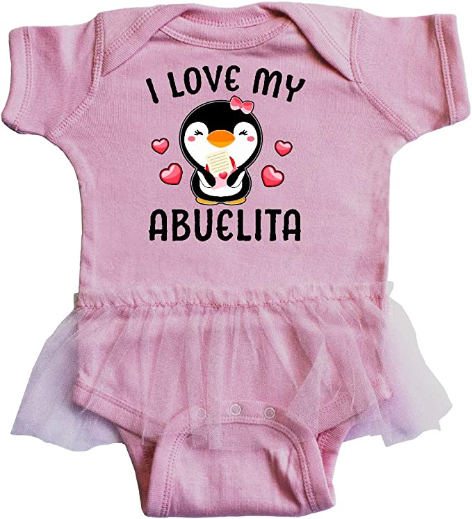 inktastic I Love My Abuela with Cute Penguin and Hearts Toddler T-Shirt