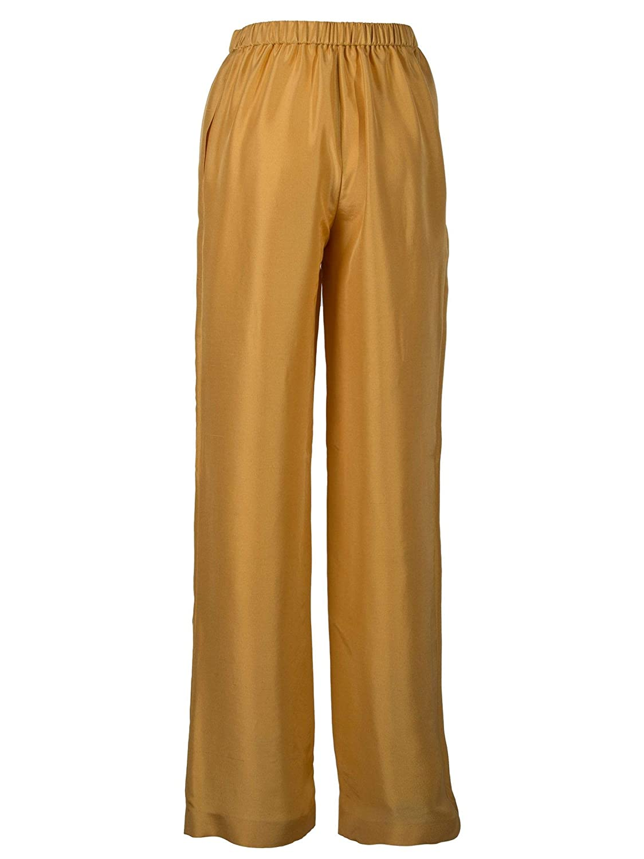 Brand Size 38 ALBERTA FERRETTI Women's A0304162011 Beige Silk Pants