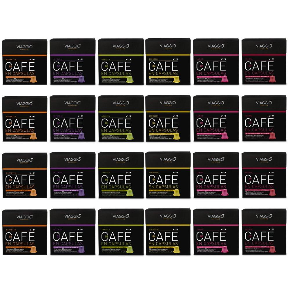 VIAGGIO ESPRESSO - 240 Cápsulas de Café Compatibles con Máquinas Nespresso - SELECCIÓN SIN DECAFFEINATO: Amazon.es: Alimentación y bebidas