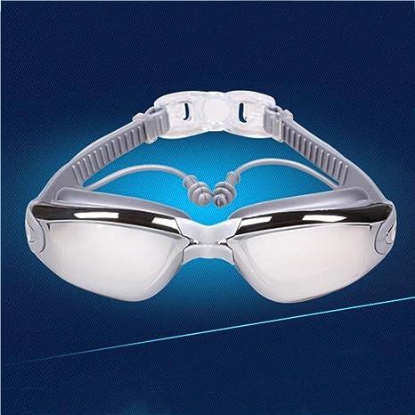ZHANG HD occhiali impermeabile antinebbia che nuotano gli occhiali grandi trasduttori pezzo di nuoto telaio placcatura, g
