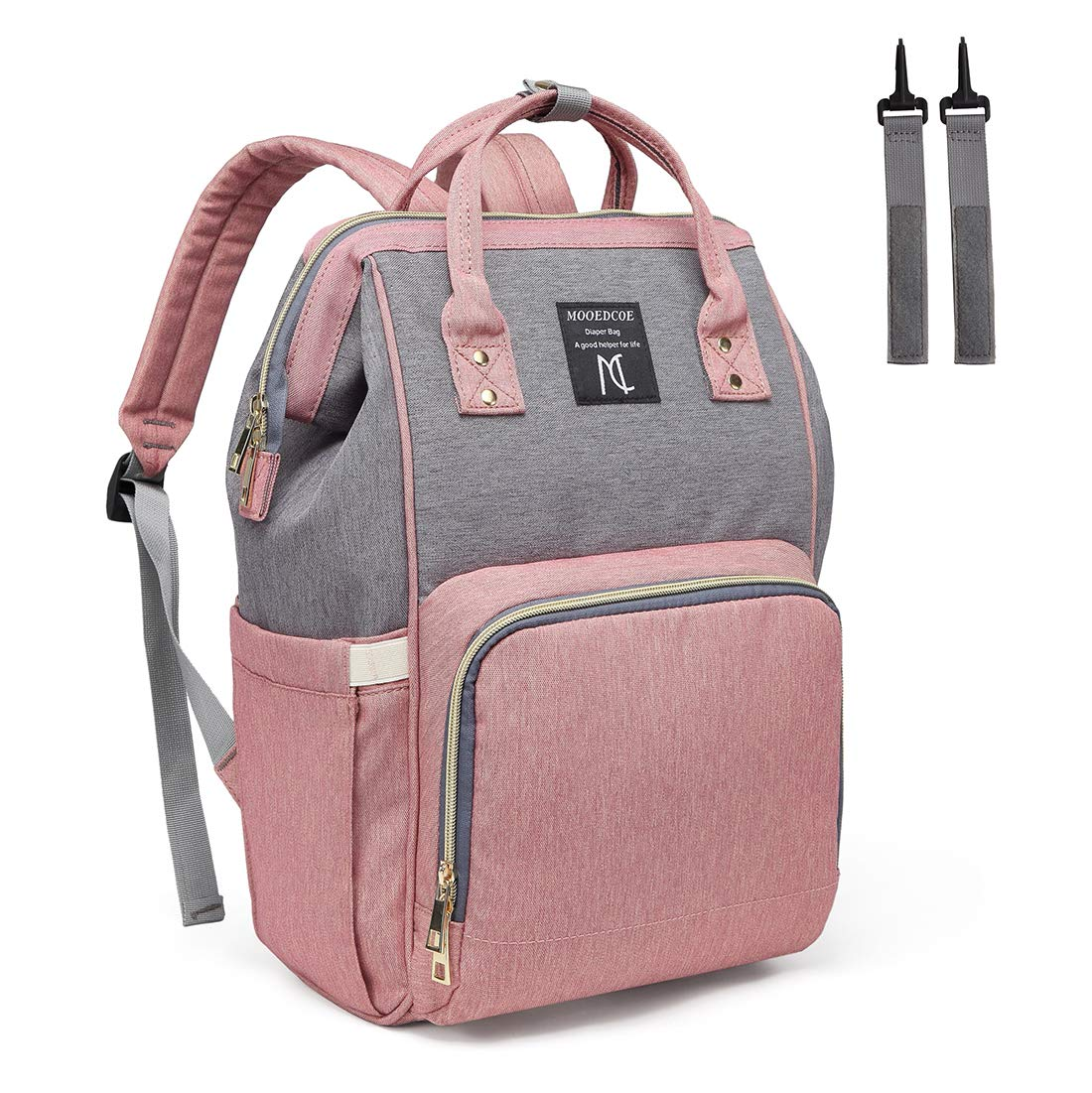 Mooedcoe Baby Nappy Changing Bag Rucksack Diaper Bag Nappy Changing Backpack  for Mom and Dad (Pink)  Amazon.co.uk  Baby caa94e8d054a2