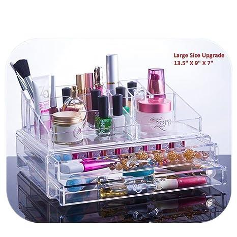 Amazoncom Unique Home Acrylic Jewelry Cosmetic Storage Makeup